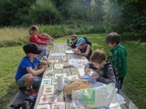 A l'étude de la nature pendant les vacances d'été