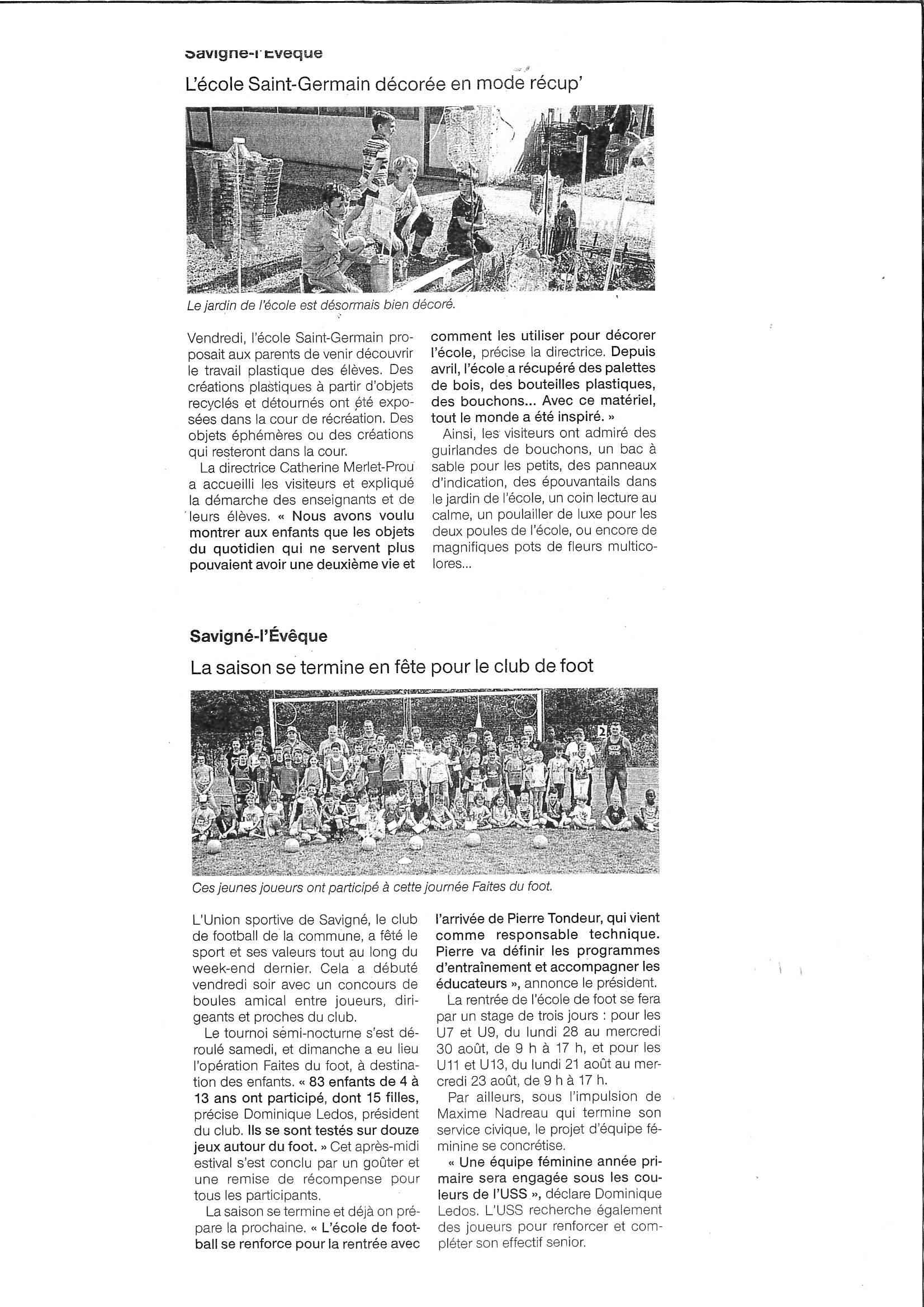 Ouest France 14 juin