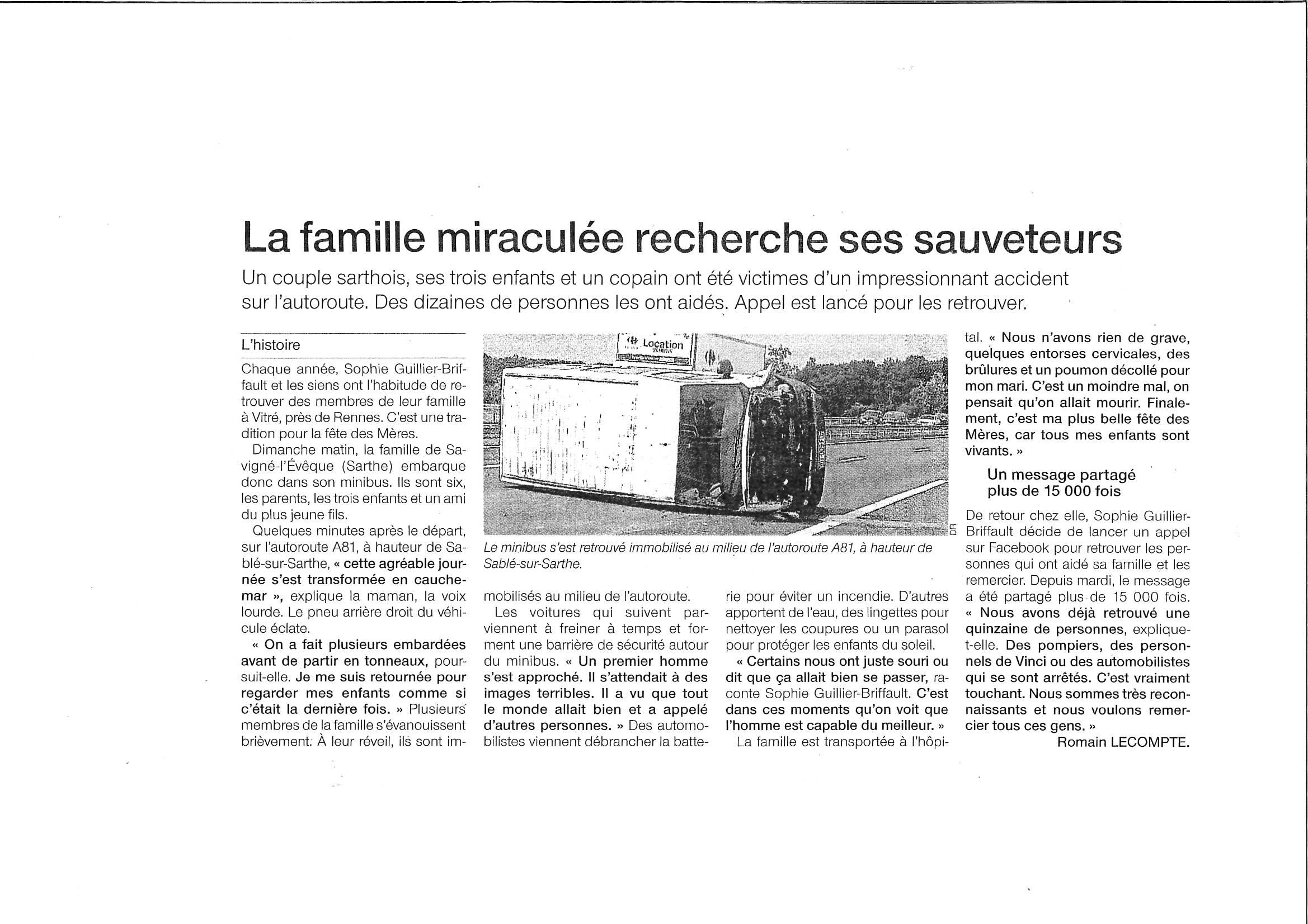 Ouest France 2 juin