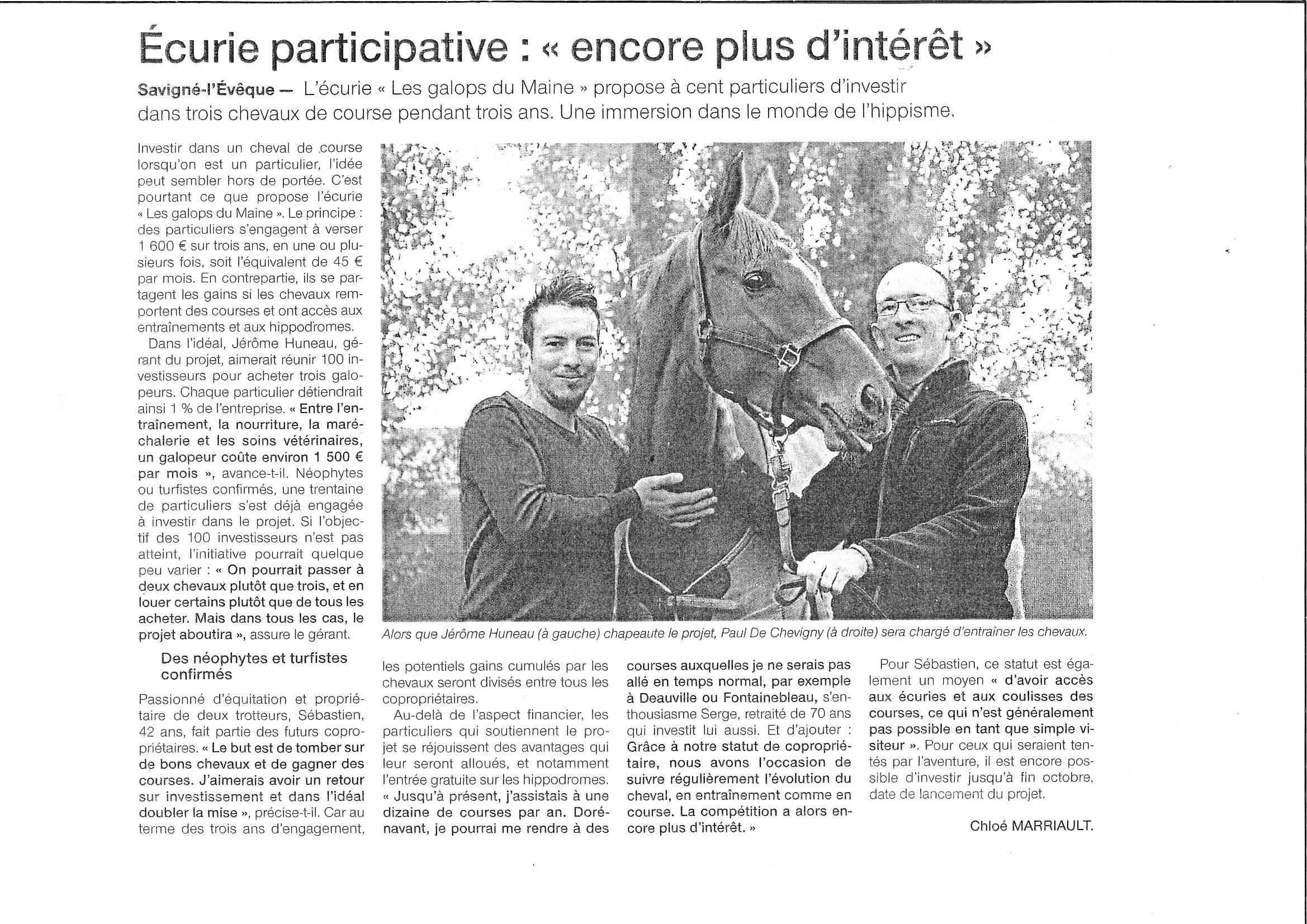 Ouest France 20 septembre
